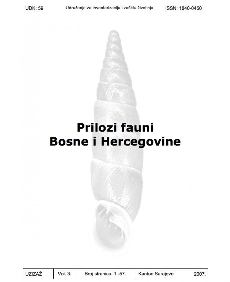 Prilozi fauni Bosne i Hercegovine Vol. 3