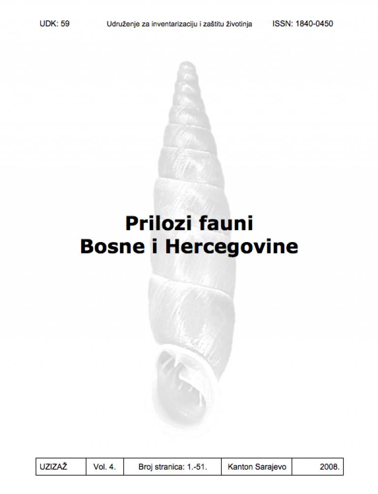 Prilozi fauni Bosne i Hercegovine Vol. 4